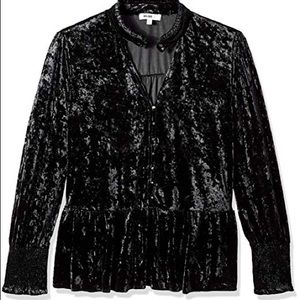 William rast velvet blouse NWT